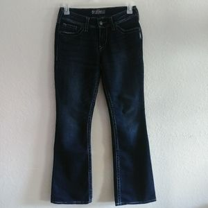 Silver Suki Surplus Womens jeans Flap Pocket 28